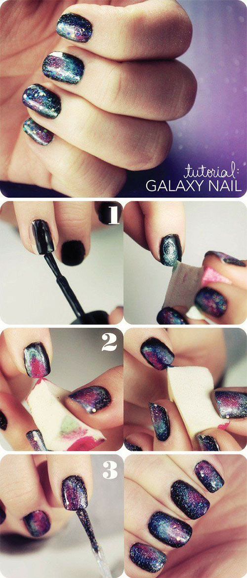 Galaxy Nails - Nail Art Tutorial