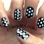 Monochrome Polka Dots Nail Art Tutorial