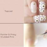 Pastel Daisies Nail Art Tutorial