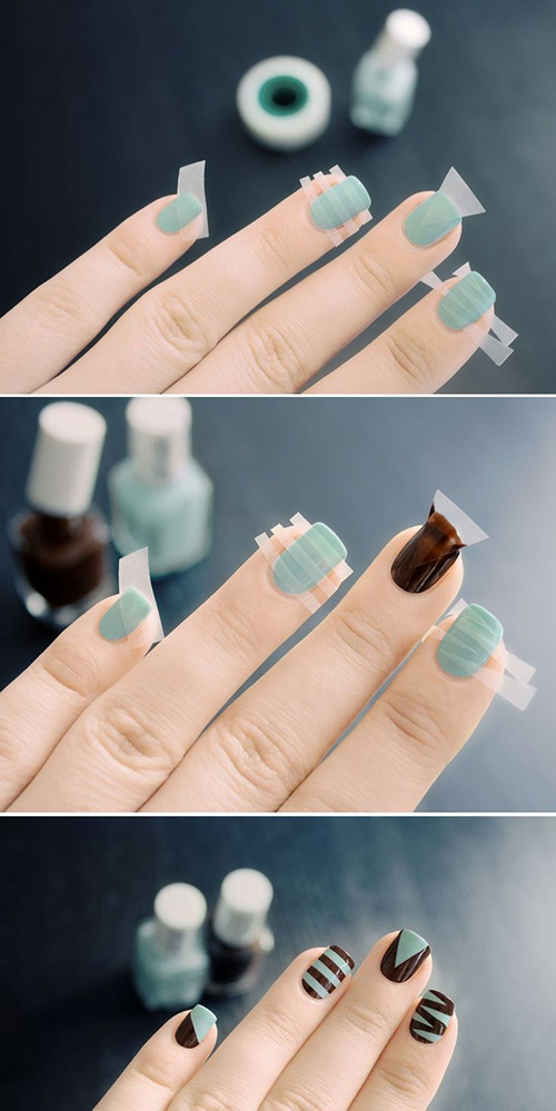 Stripes and Lines Nail Art Tutorial