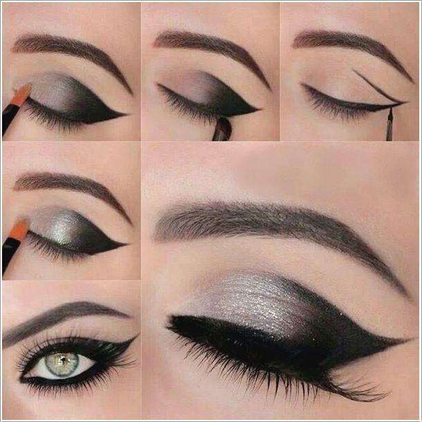 Step By Step Makeup Tutorial: Silver to Black Glamorous Eyeshadow