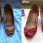 Change the colour of your shoes on the cheap with some leather dye