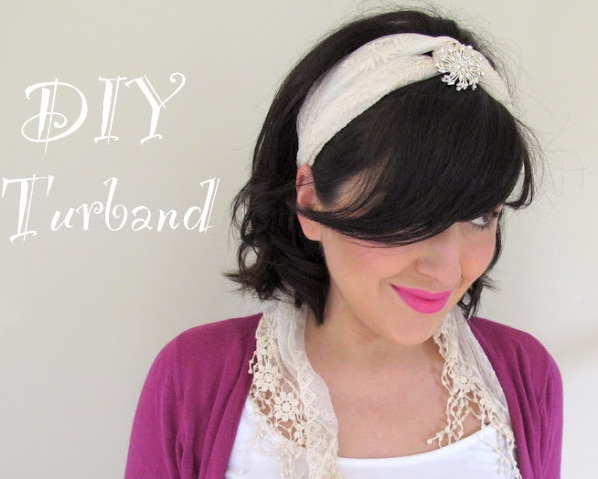 DIY turband from a scarf