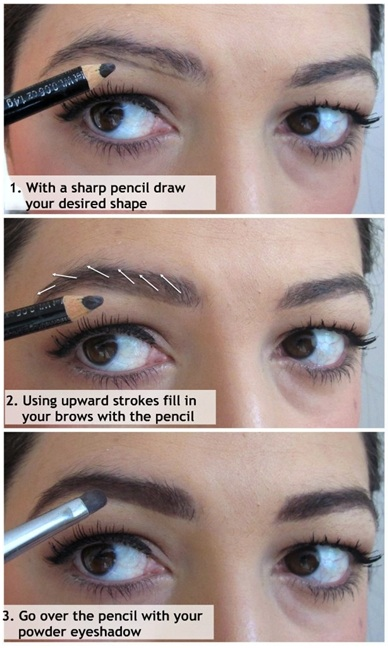 How I fill in my eyebrows 02