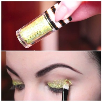 How To Use Glitter Makeup 05