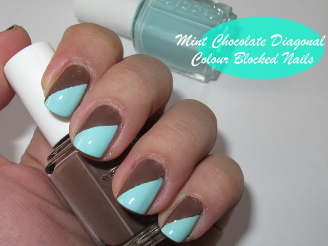 Mint chocolate nails - NOTD Tutorial