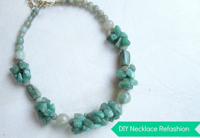 Refashion a short necklace 01