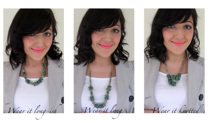 Refashion a short necklace - DIY beauty
