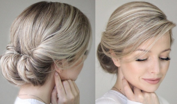 Easy Messy Updo hair