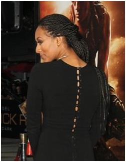 Side twist box braids