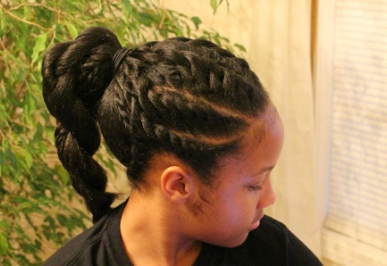 How to Create a Flat Twist Ponytail