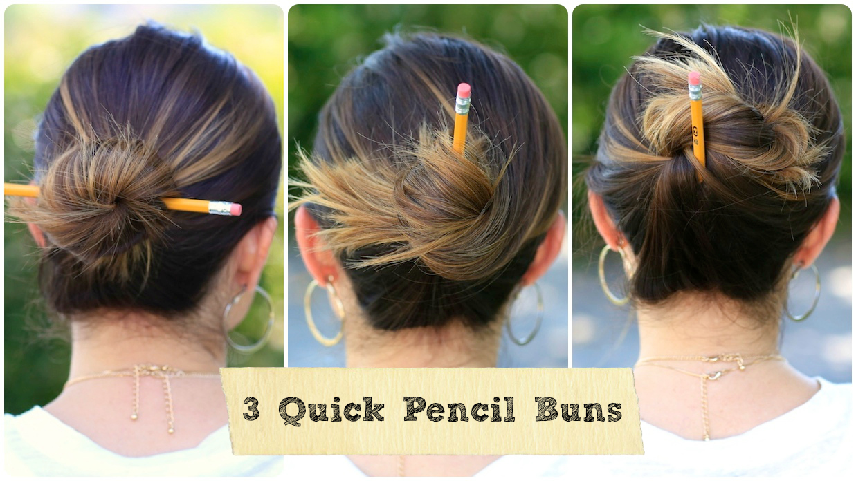How to Pull Your Hair Up with a Pencil